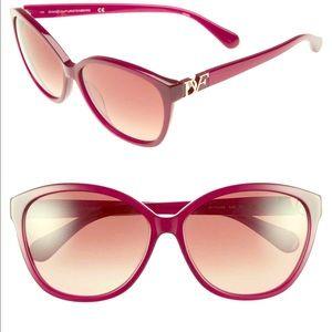 DVF Harper's Oversized Cat Eye Sunglasses